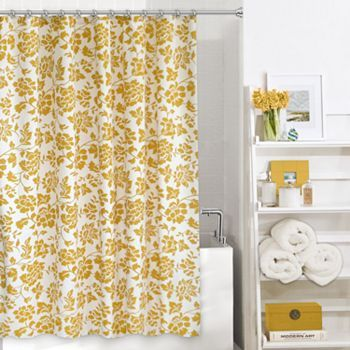 Colordrift Gabriella Fabric Shower Curtain