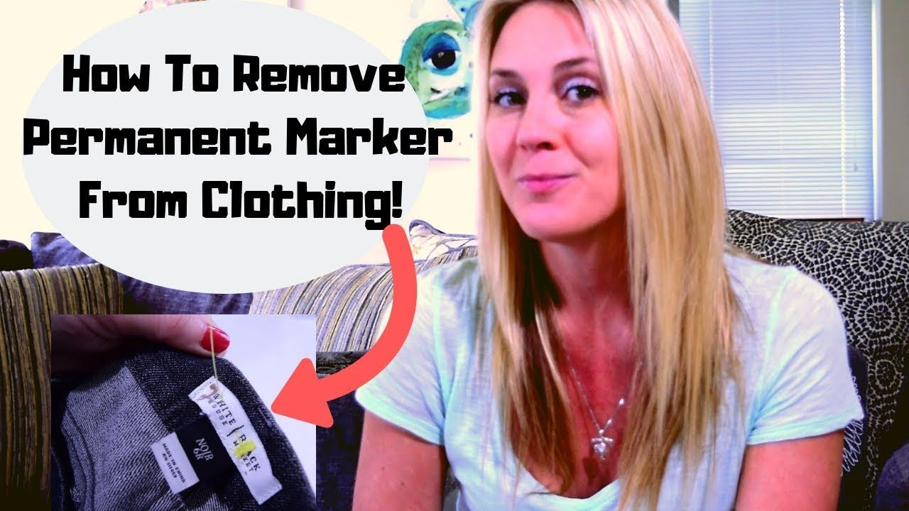 How to remove permanent marker from clothing remove