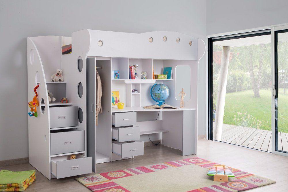 meuble rangement chambre lit mezzanine