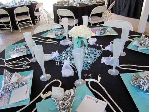 Audrey Hepburn Table Setting For Bridal Shower I Love
