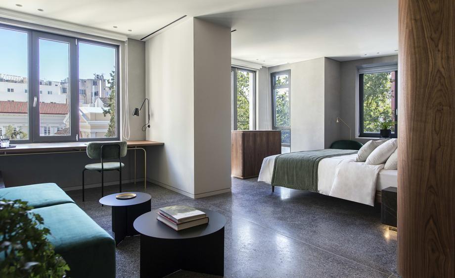 Perianth Athens Greece Studio Interior Room Apartment
