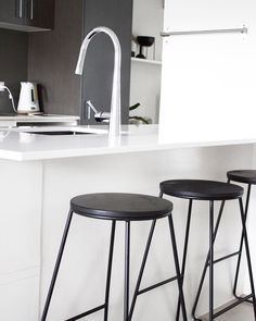 Sensational Kmart Hack Kitchen Stools Painted Black For A Creativecarmelina Interior Chair Design Creativecarmelinacom