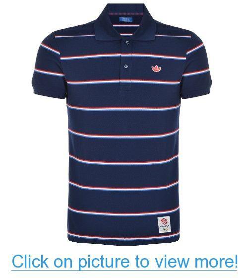 Adidas Originals Mens London 2012 Team GB Striped Polo Shirt