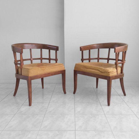 Genial 30% SALE 2 DREXEL Mid Century Modern Lattice Back Arm Chairs