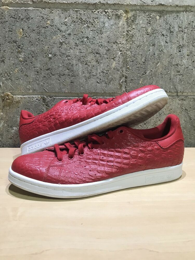 a5246cc765574 Adidas Stan Smith Croc Red Size 11  fashion  clothing  shoes  accessories   mensshoes  athleticshoes (ebay link)