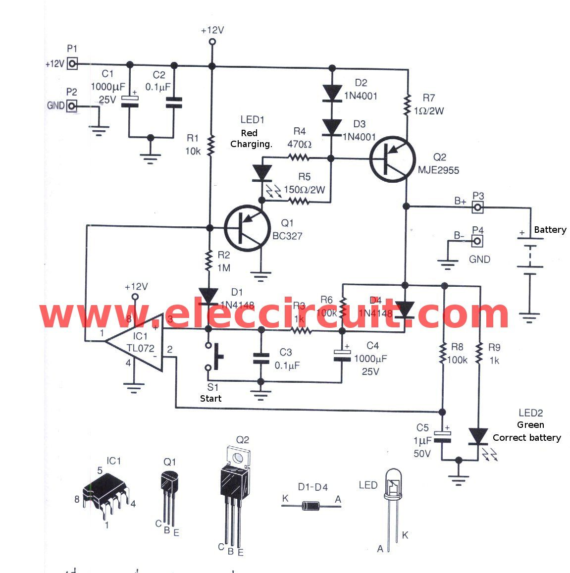 Automatic Nimh Battery Charger Circuit Cutoff When Full How To Test A Triac Electronic Circuits And Diagramelectronics The Project Is On Automatically Shut Off Fully Charged Can Charge Batteries 1 10 Pcs Depending Input Voltage