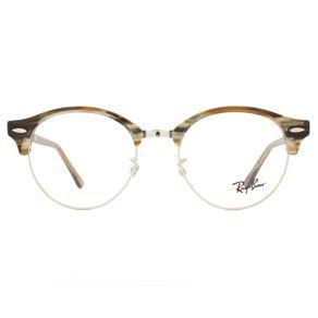 O Óculos de Grau Masculino e Feminino Ray Ban Clubround RX4246V 5749-49 é  para 65691457a2