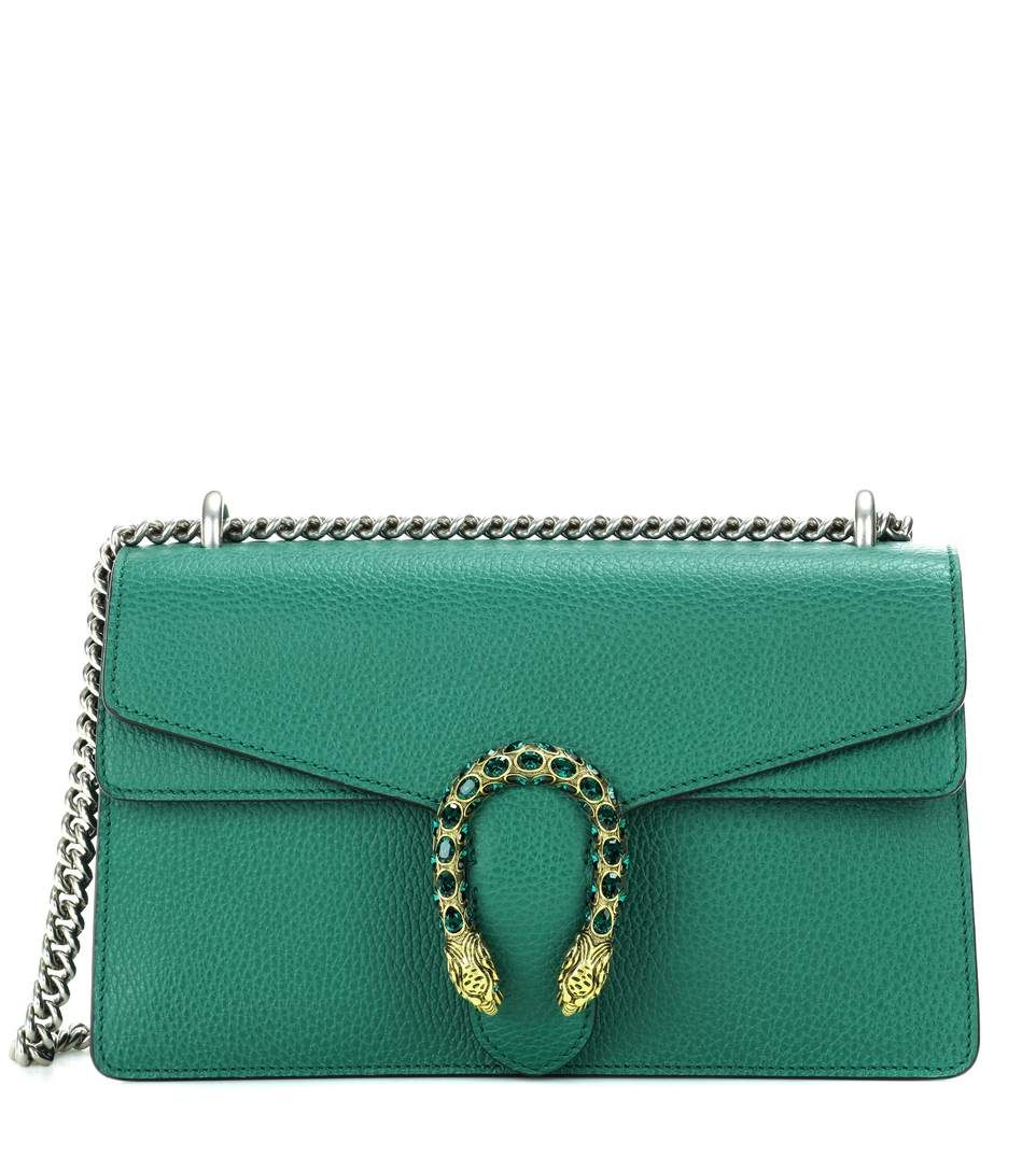 Dionysus Small green leather shoulder bag by Gucci | Väskor ...