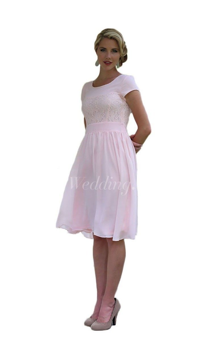 Short sleeve kneelength dress with lace embellishment pinterest