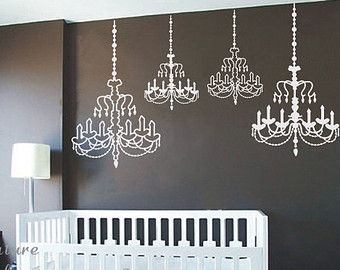 Superior Chandelier  Vinyl Wall Decal,Sticker,Nature Design Baby Room Decal Wall  Decal Nursery
