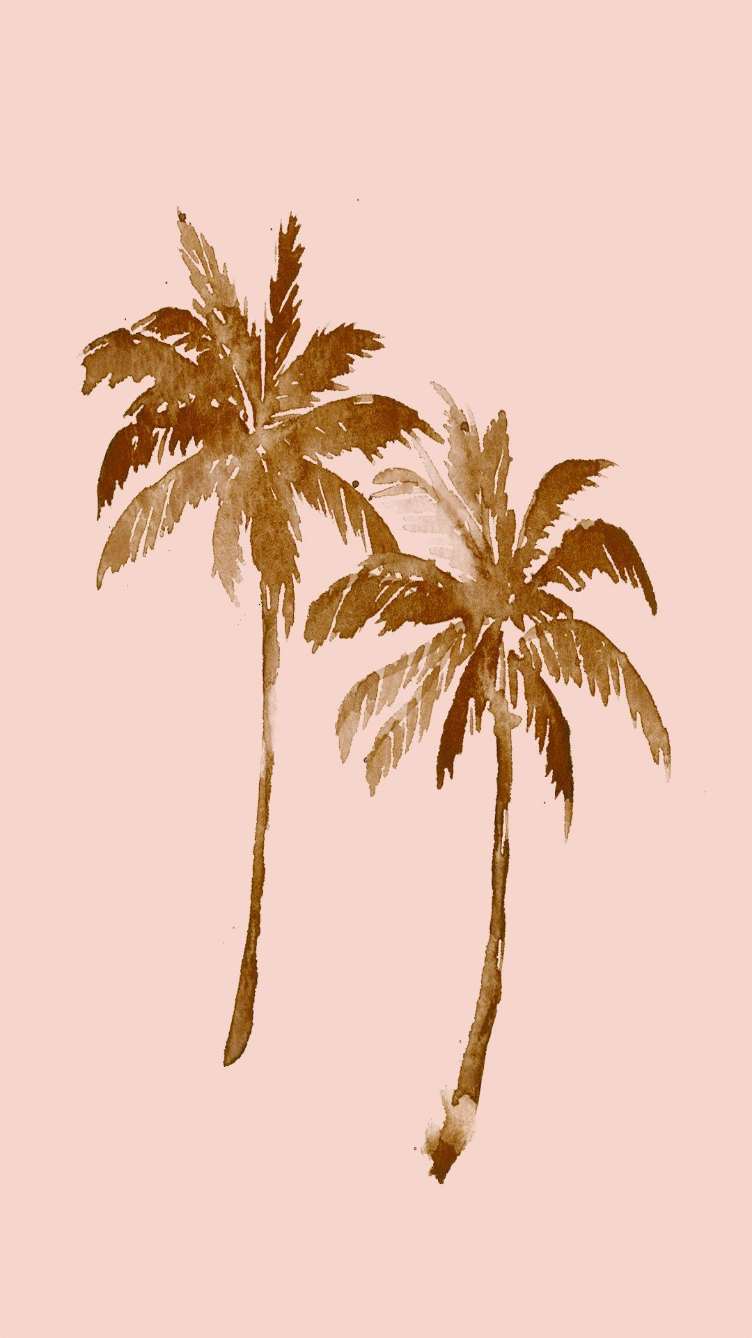 Twin Palm Artwork Billabongwomens Palm Trees Wallpaper Palm