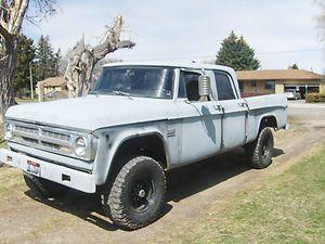 1970 dodge 3 4 ton power wagon crew cab trucks pickup. Black Bedroom Furniture Sets. Home Design Ideas