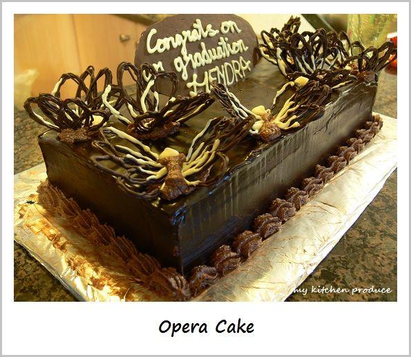 Opera Cake w Chocolate Butterflies Cake Pinterest Opera cake