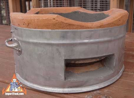 how to make charcoal clay oven