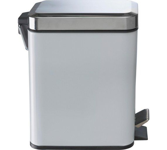 Buy Argos Home 5 Litre Slim Bin - White | Bathroom bins ...