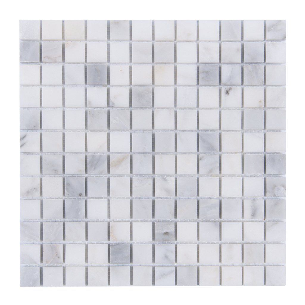 Carrara White Marble Tile 1 Square Mosaic Diy Backsplash Shower Floor Wall Bathroom Floor Tiles White Marble Mosaic Marble Mosaic