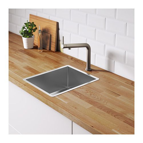 Norrsjon Sink Stainless Steel Bowl Depth 7 1 8 Order Today Ikea Sink Fitted Cabinets Inset Sink