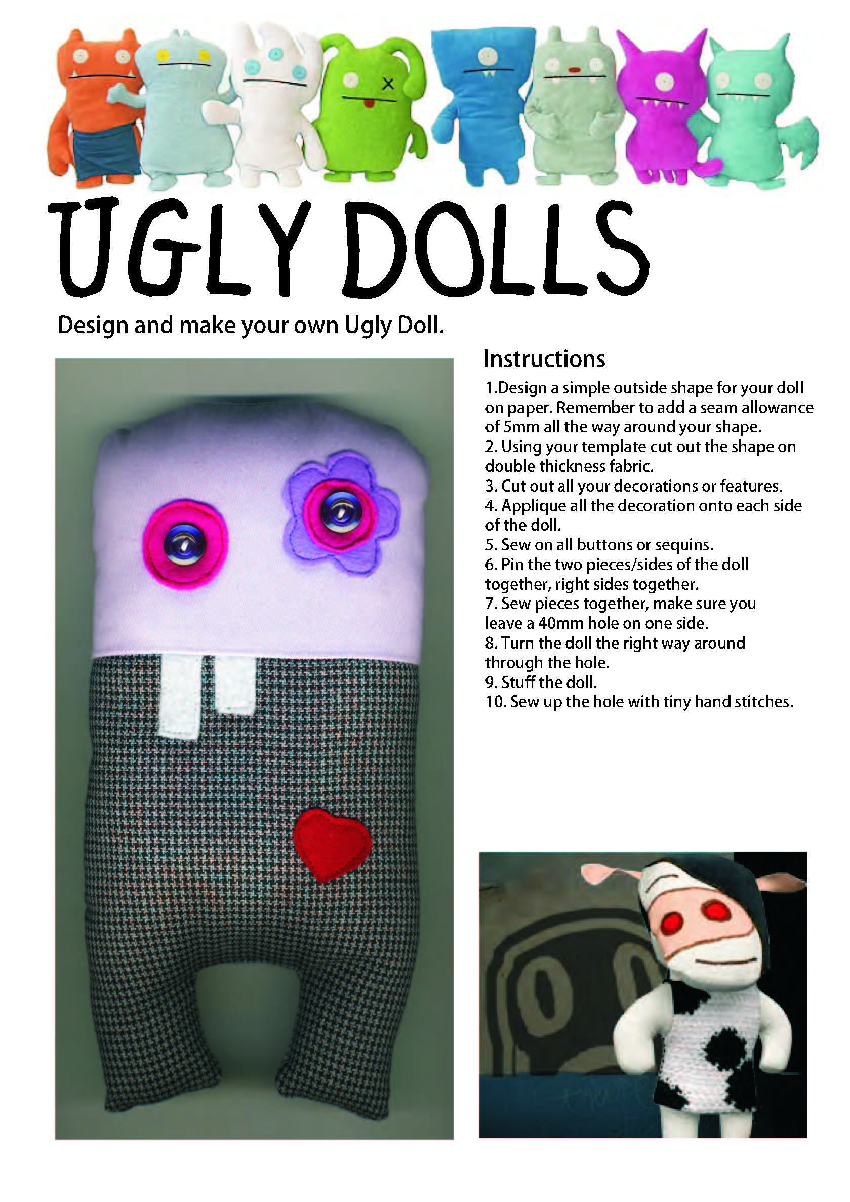Ugly Doll Worksheet
