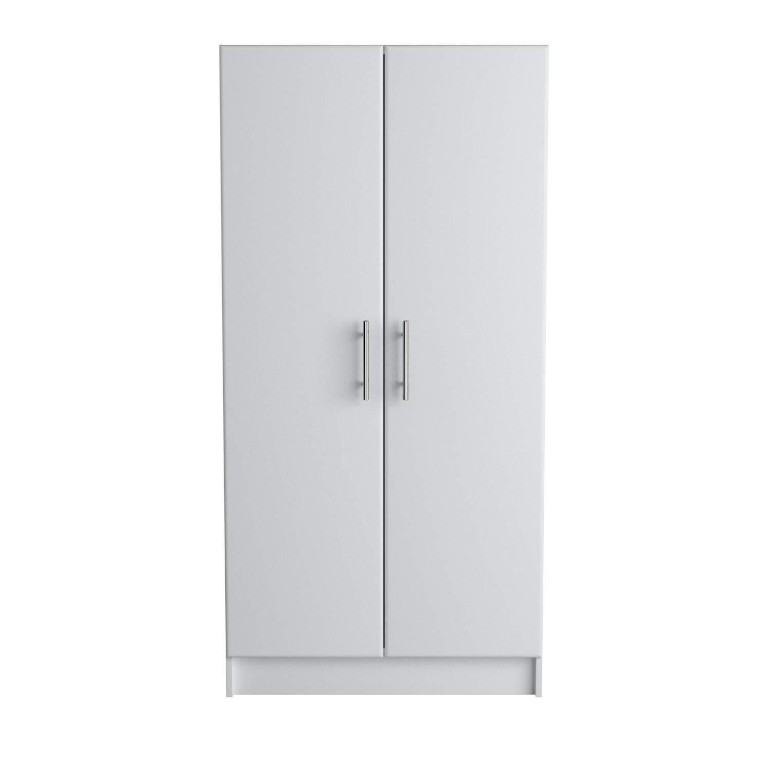 Tall 2 Door White Storage Cabinet Kitchen Utility Room Organizer Garage Shop New 64886 White Storage Cabinets Kitchen Cabinet Storage Utility Room Organization