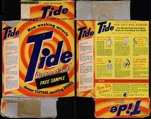 Proctor Gamble Tide New Washing Miracle Detergent Box