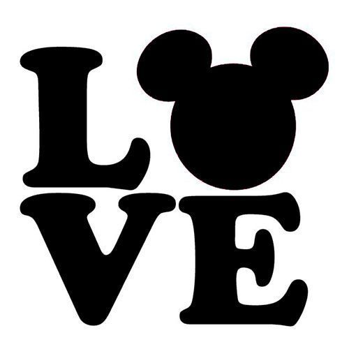 Download Details about LOVE Mickey Mouse Ears Heart Vinyl Decal ...