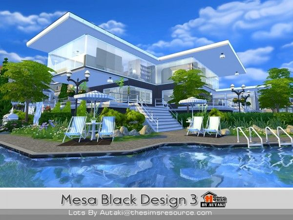 the sims resource black glass house by praline sims sims 4 downloads the sims pinterest glass houses black glass and the sims