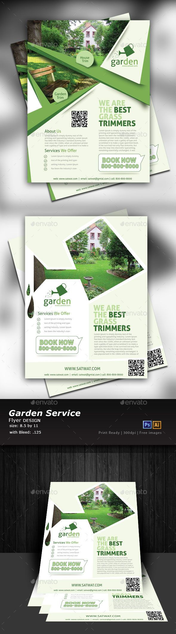 Lawn Care Flyer Templates PSD, Vector EPS, AI Illustrator | Flyer ...