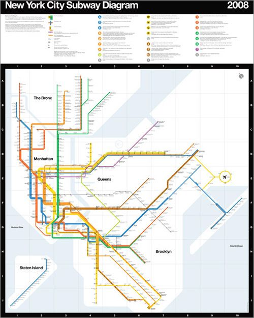 Nyc Subway Map Massimo Vignelli.Nyc Subway Diagram 2008 By Massimo Vignelli For Men S Vogue Maps