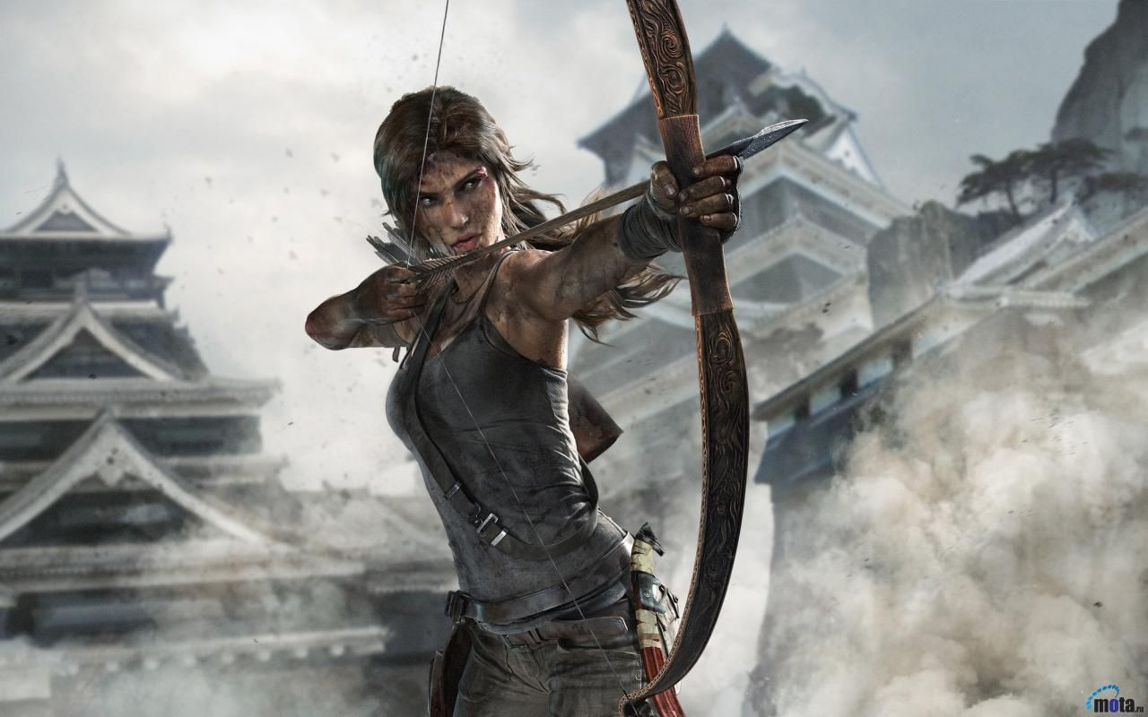 Desktop Wallpapers Lara Croft With Bow Tomb Raider