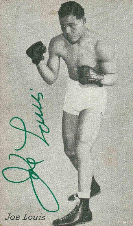 Joe Louis signature on card