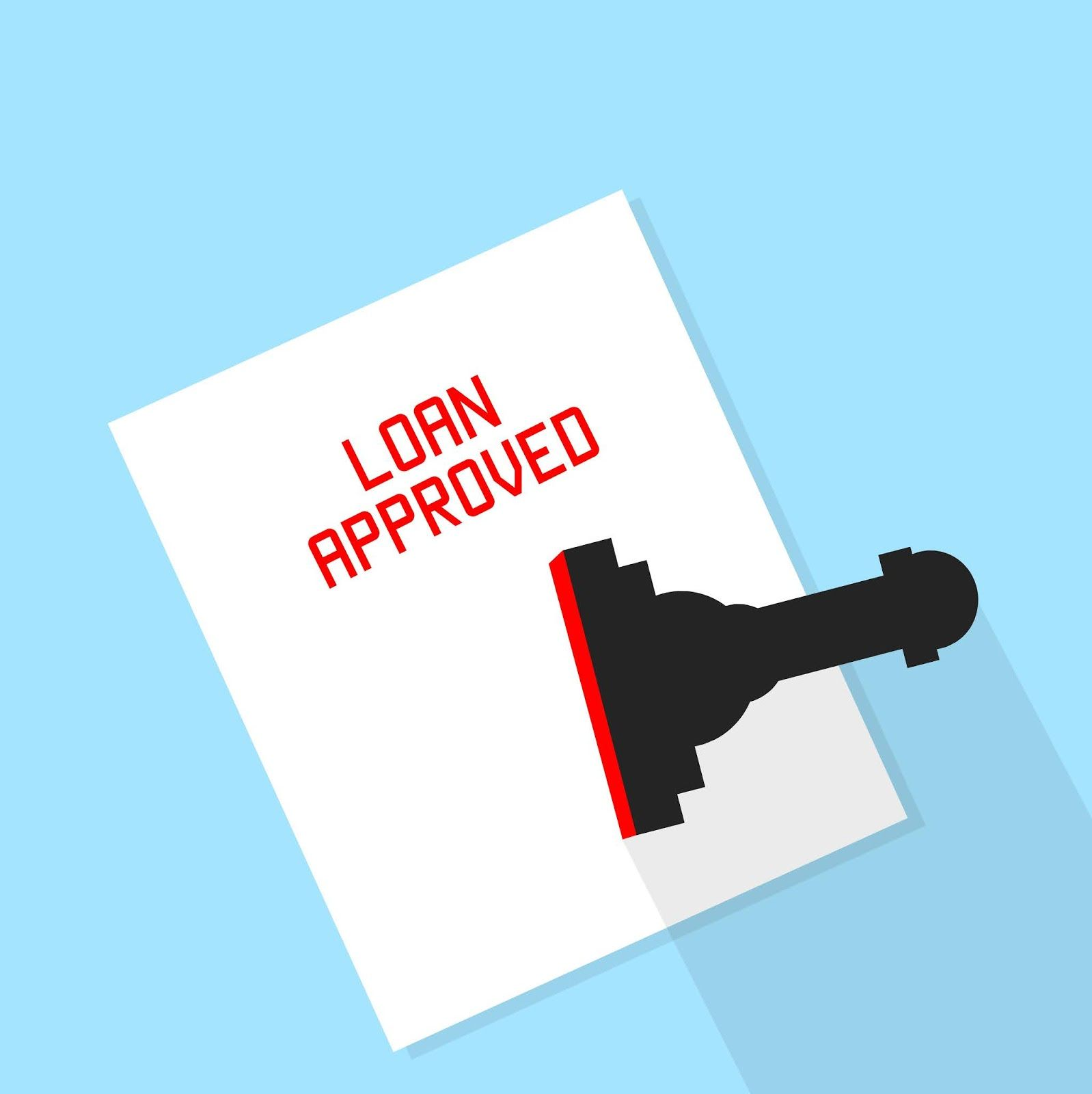 Download Free Images And Illustrations Illustration Of Loan Approval Stamp Personal Loans Loan Illustration
