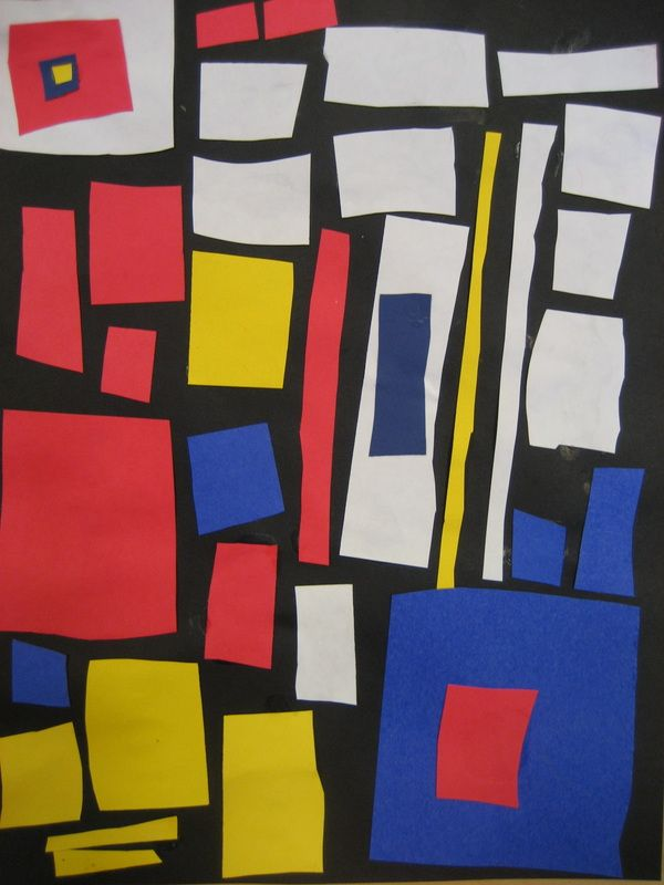 "Piet Mondrian Paintings | Piet Mondrian Collage - ""The purpose of ..."
