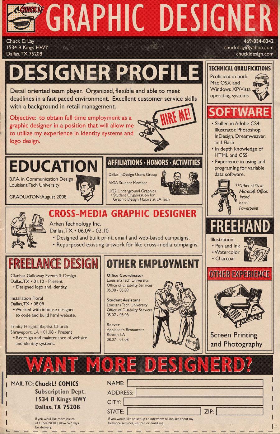 Curriculum vitae original de disenyador gràfic #curriculum ...