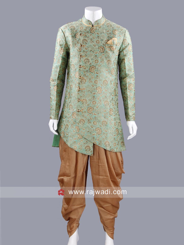 Liril green color printed indo western rajwadi indowestern trendy