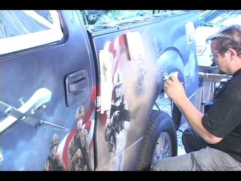 Freedom Truck Airbrush Art Pinstriping Airbrush