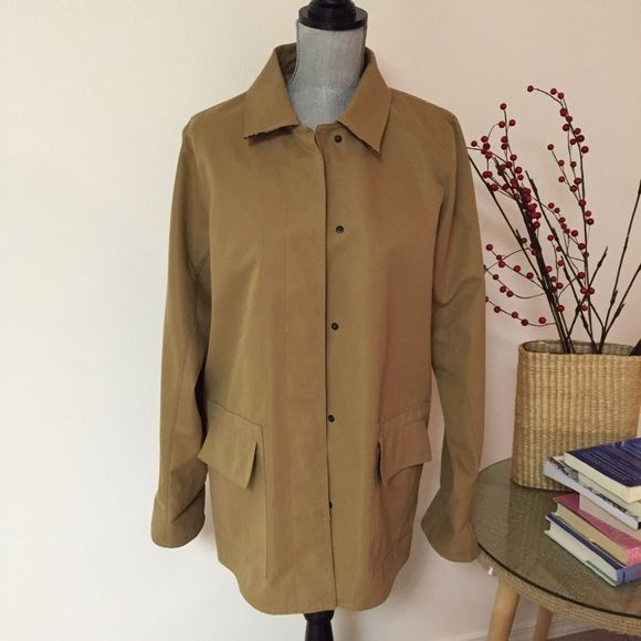 Dennis Basso Coat Perfect for spring! Tan, soft feel classic lines. This coat is in perfect condition. Size med. beautiful leopard print lining. Dennis basso Jackets & Coats