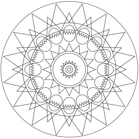 Easter Eggs Mandala Coloring Page From Easter Mandalas