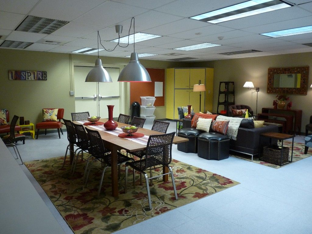 teachers lounge makeover - notice the stunning lack of people\'s ...