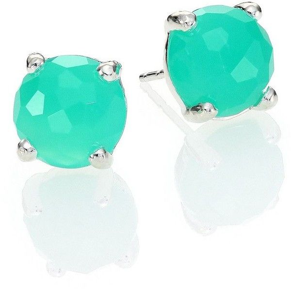 IPPOLITA Rock Candy Chrysoprase & Sterling Silver Mini Stud Earrings (1.348.125 COP) ❤ liked on Polyvore featuring jewelry, earrings, accessories, apparel & accessories, ippolita jewelry, stud earring set, chrysoprase jewelry, sterling silver stud earring set e post earrings