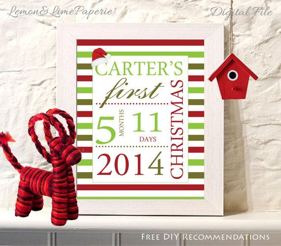 Personalized babys first christmas wall art babys first personalized babys first christmas wall art babys first christmas gift christmas keepsake first negle Image collections