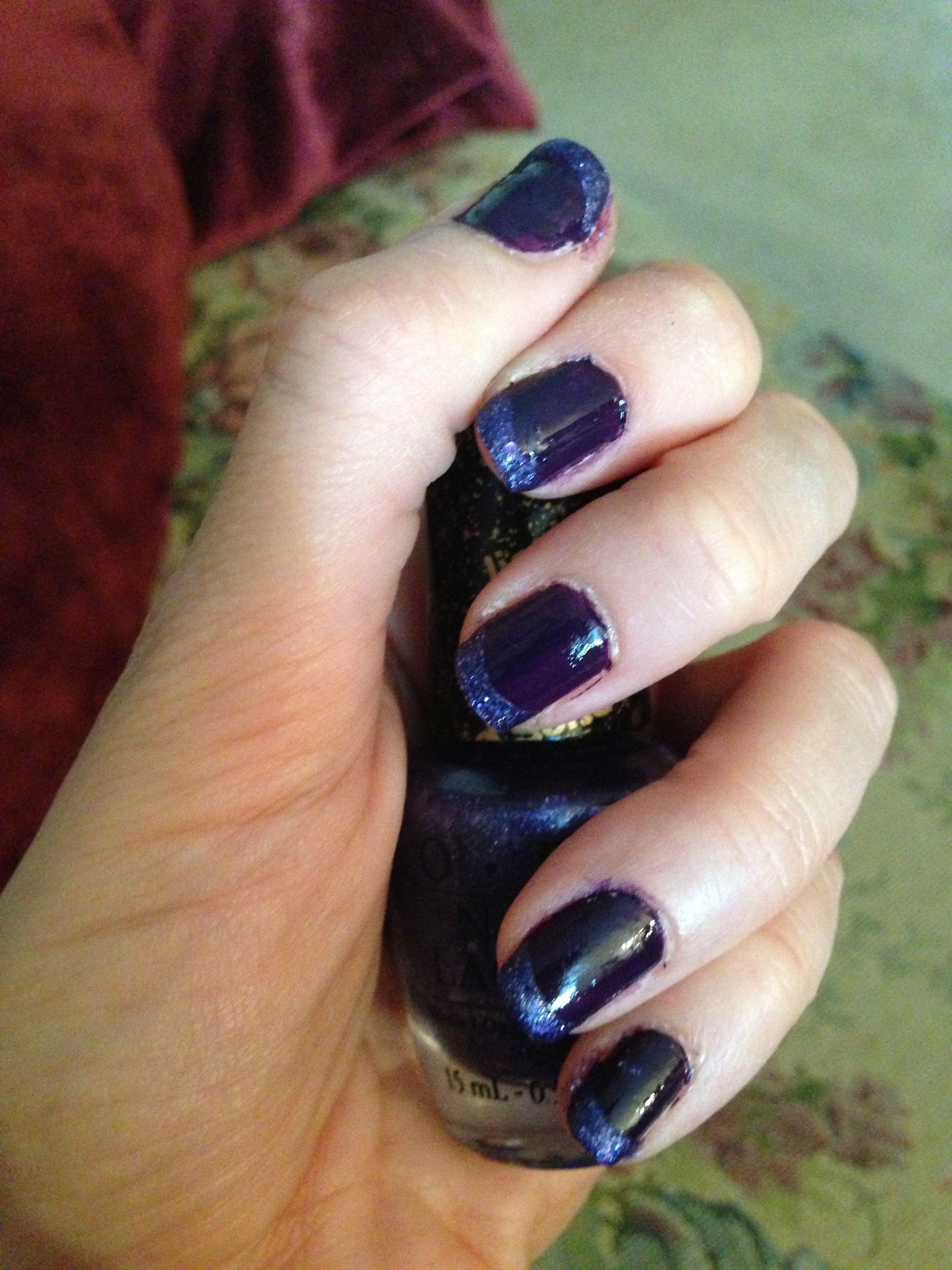 OPI purple nail polish manicure: Euro Trip color \