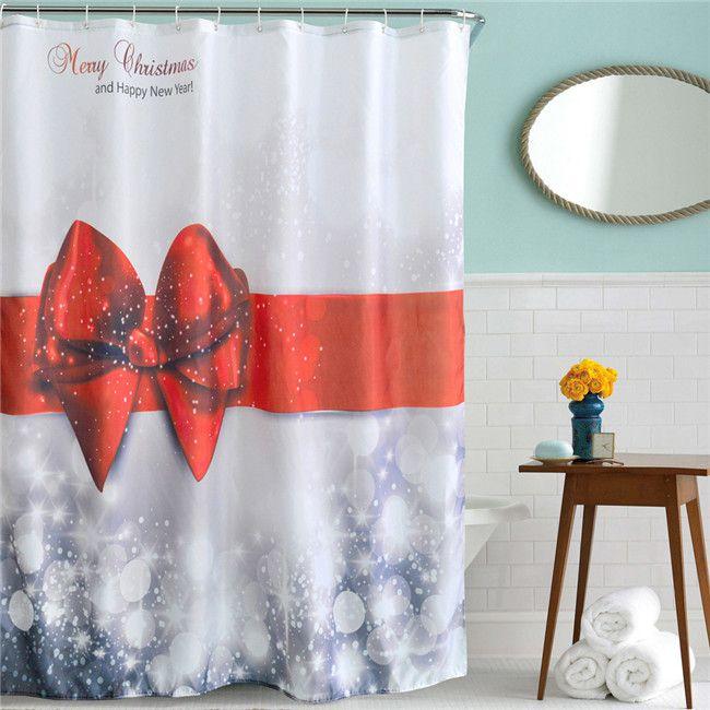 Shower Curtain High Quality Christmas Kids Waterproof Mildewproof