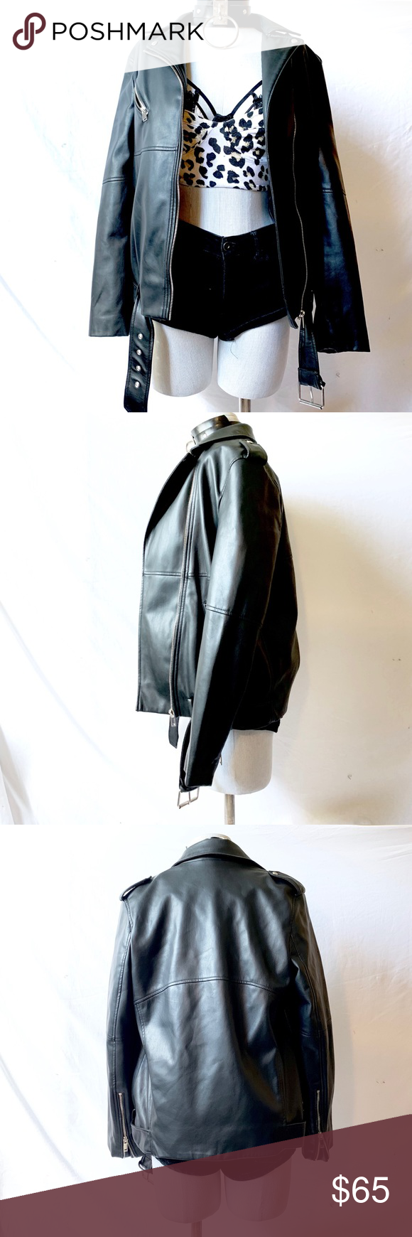 ♥️SALE♥️ Oversized Faux Leather Jacket Faux leather jackets