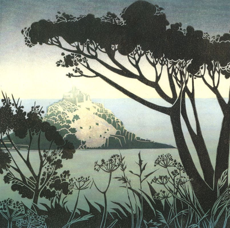 Sunlight on the Mount - Carol Lander Printmaker