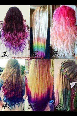 All These Dyed Hairstyles R Cute Hair Styles Multicolored Hair Hair