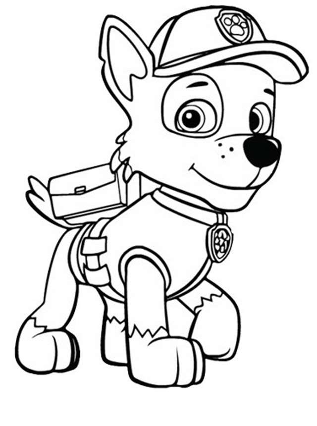 Paw Patrol Zuma Coloring Pages To Print Design