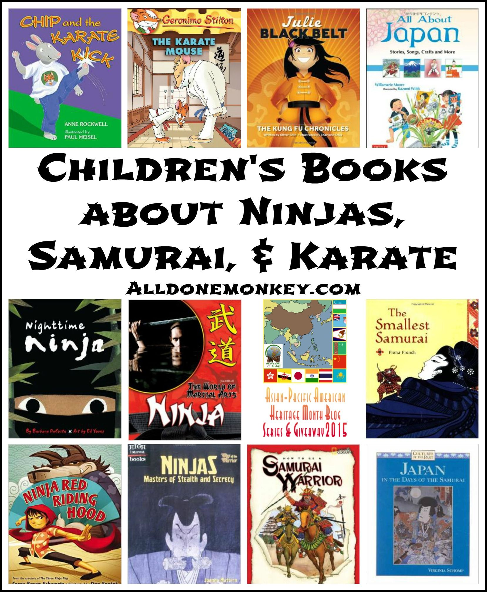 Childrens Books About Ninjas Samurai And Karate