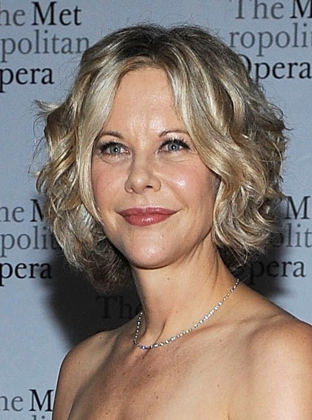 Who Says You Cant Wear Your Curly Hair Short Meg Ryan Curly And