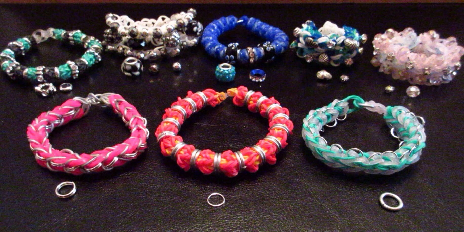 """Introducing """"Bling"""" to Rainbow Loom Bracelets"""