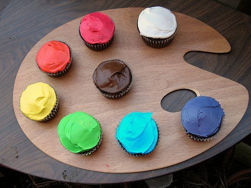 Art/Painter Cupcakes